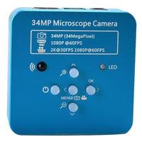 34Mp 2K 1080P 60Fps Hdmi Usb przemysłowe elektroniczne cyfrowe wideo lutowania mikroskopowa kamera lupa do telefonu Pcbtht naprawy w Kamera wideo 360° od Elektronika użytkowa na