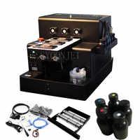 Автоматический маленький УФ-принтер A4 размер УФ планшетный печатная машина для бутылки, чехол для телефона, зажигалка, кожа, ТПУ, ПВХ, металл...