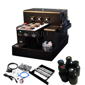 Automatic Small UV Printer A4 Size UV Flatbed Printing machine for Bottle, Phone Case, Lighter, leather , TPU, PVC, Metal, Wood