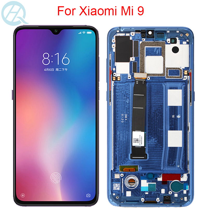 Original AMOLED Screen For Xiaomi Mi 9 LCD With Frame 6.39