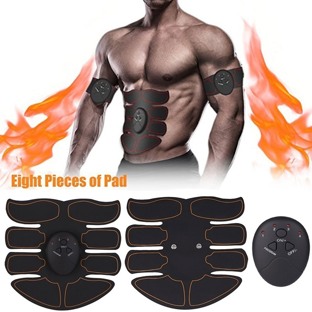 100% True Electric Muscle Stimulator Wireless Buttocks Hip Trainer Abdominal Abs Stimulator Fitness Body Slimming Massager Muscle Trainer
