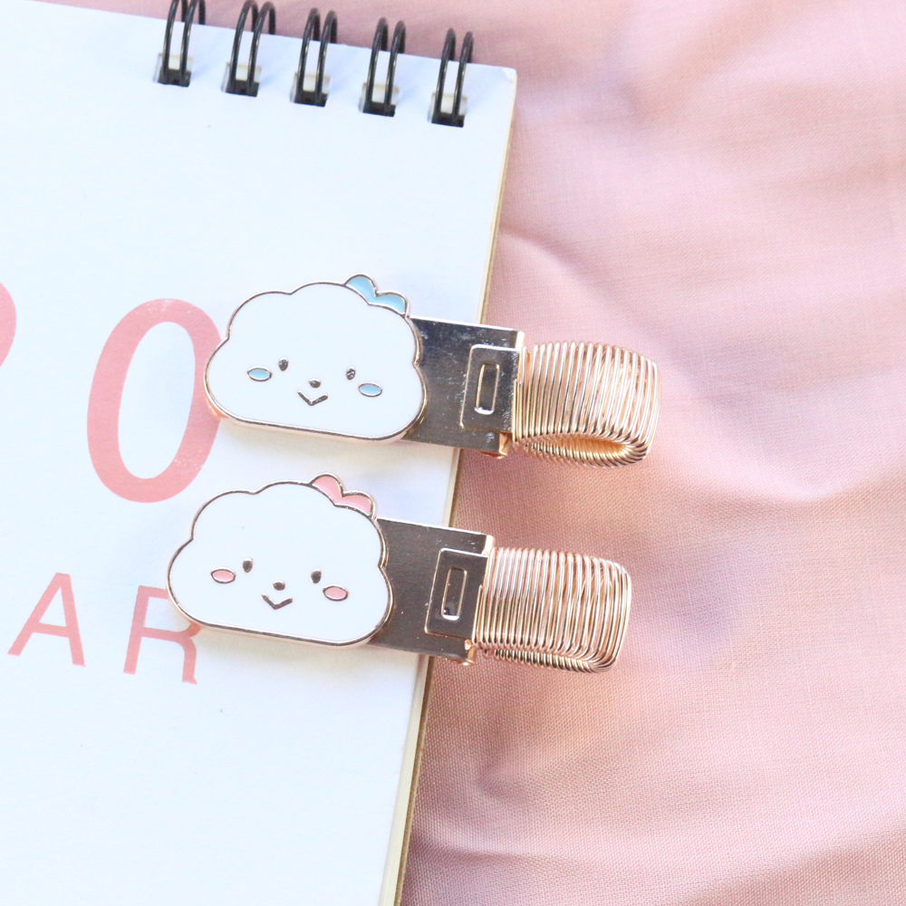 Domikee Cute Kawaii Korean Clouds Design Office School Metal Pen Holder For Bullet Journal Diary Notebooks Stationery Supplies