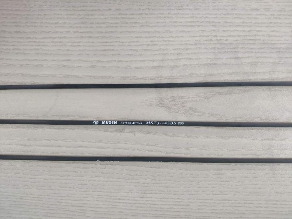 12 Pcs/lot 31 Inches Pure Carbon Arrow Shaft With Color Logo,  ID4.2mm, Straightness, Free Shipping