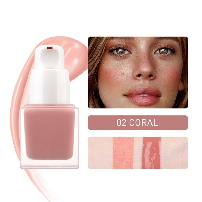 Горячая Распродажа, эффективные жидкие румяна, стойкие водонепроницаемые Румяна для макияжа, для осветления лица, коло, румяна - Цвет: 02