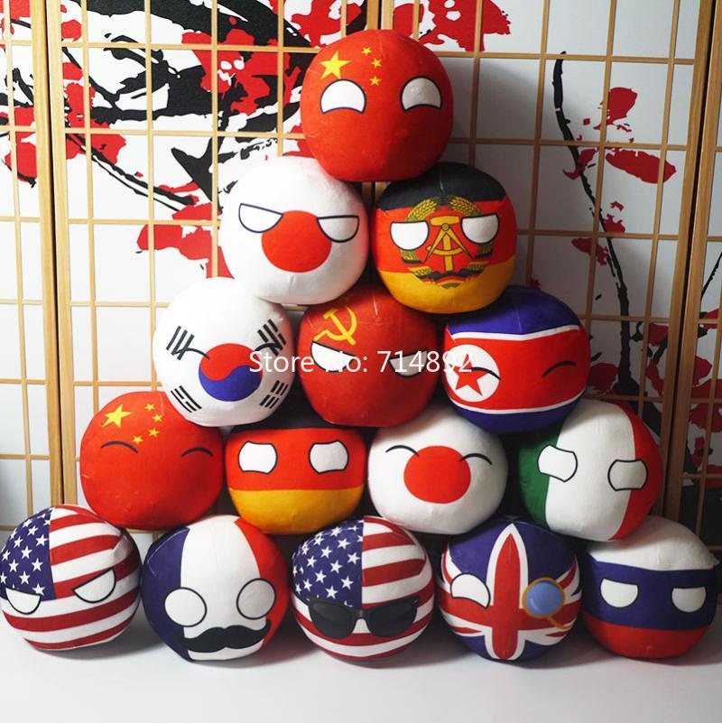 Polandball Plush Toys Anime Countryball Short Plush Doll Mini Pillow 20cm Cosplay for Gift