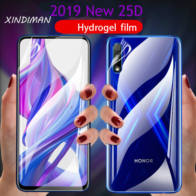 Front+Back Hydrogel Film for Huawei honor9 honor9x honor9lite screen protector for huawei honor8 8x 8lite soft film honor10 10i image