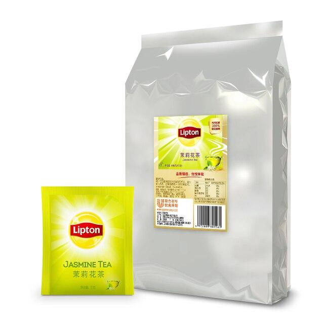 Livraison gratuite 160 g/sac Lipton jasmin thé papier sac