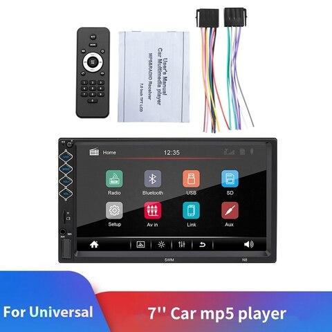 2 estereo automatico do ruido 7 jogador multimidia do carro da tela de contato da