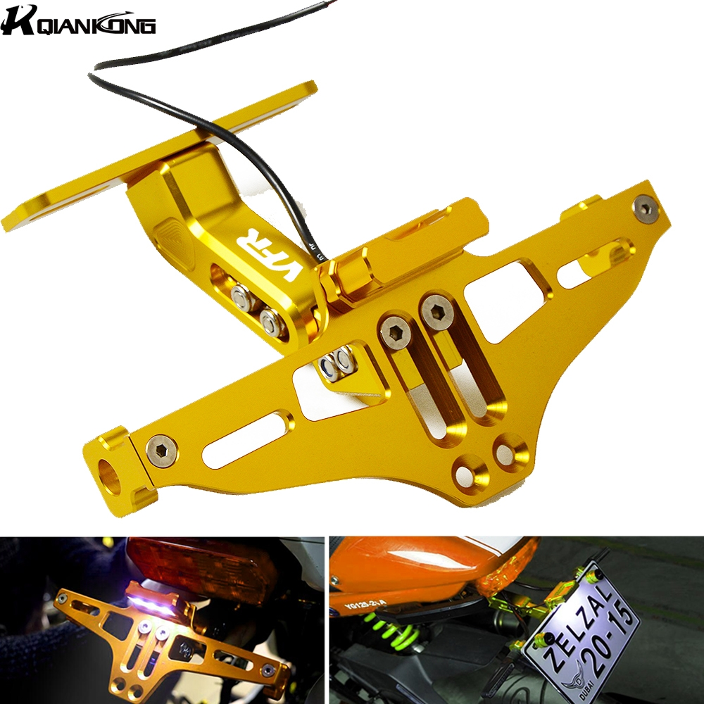 Motorcycle License Plate Bracket Licence Plate Holder Frame Number Plate For Honda VFR800 <font><b>VFR1200</b></font> F VFR 800 1200 1998-2016 image