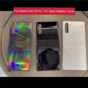 Image 2 - החלפה חזרה מקרה זכוכית סוללה כיסוי לסמסונג גלקסי הערה 10 Note10 + טלפון N9760 N9700 תיקון חלקים