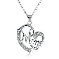 CH 987 Mother's Day Necklace Fashion Mom Letter Love Necklace Charms Pendant Necklace The Best Gift For Mother