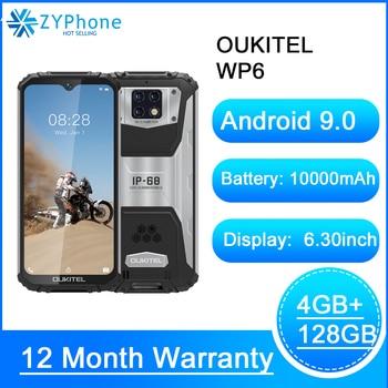 10000mAh 6.3'' FHD IP68 Waterproof Mobile Phone 4GB 128GB Octa Core 16MP Triple Cameras Rugged Smartphone OUKITEL WP6