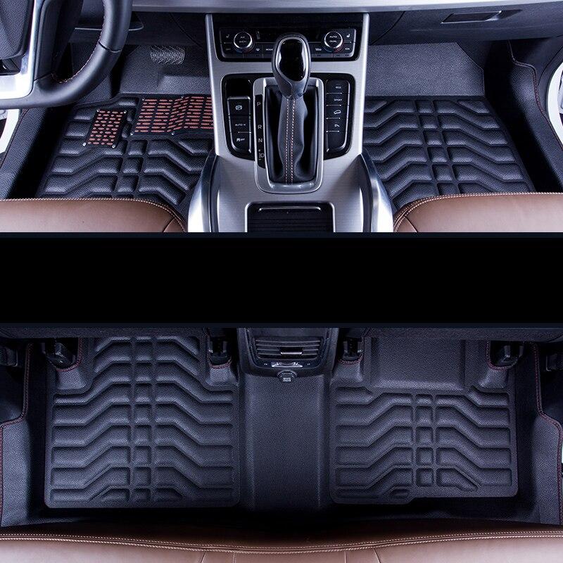 Lsrtw2017 tapis de sol intérieur de voiture en cuir pour geely boyue atlas 2016 2017 2018 2019 2020 accessoires couverture de tapis tapis