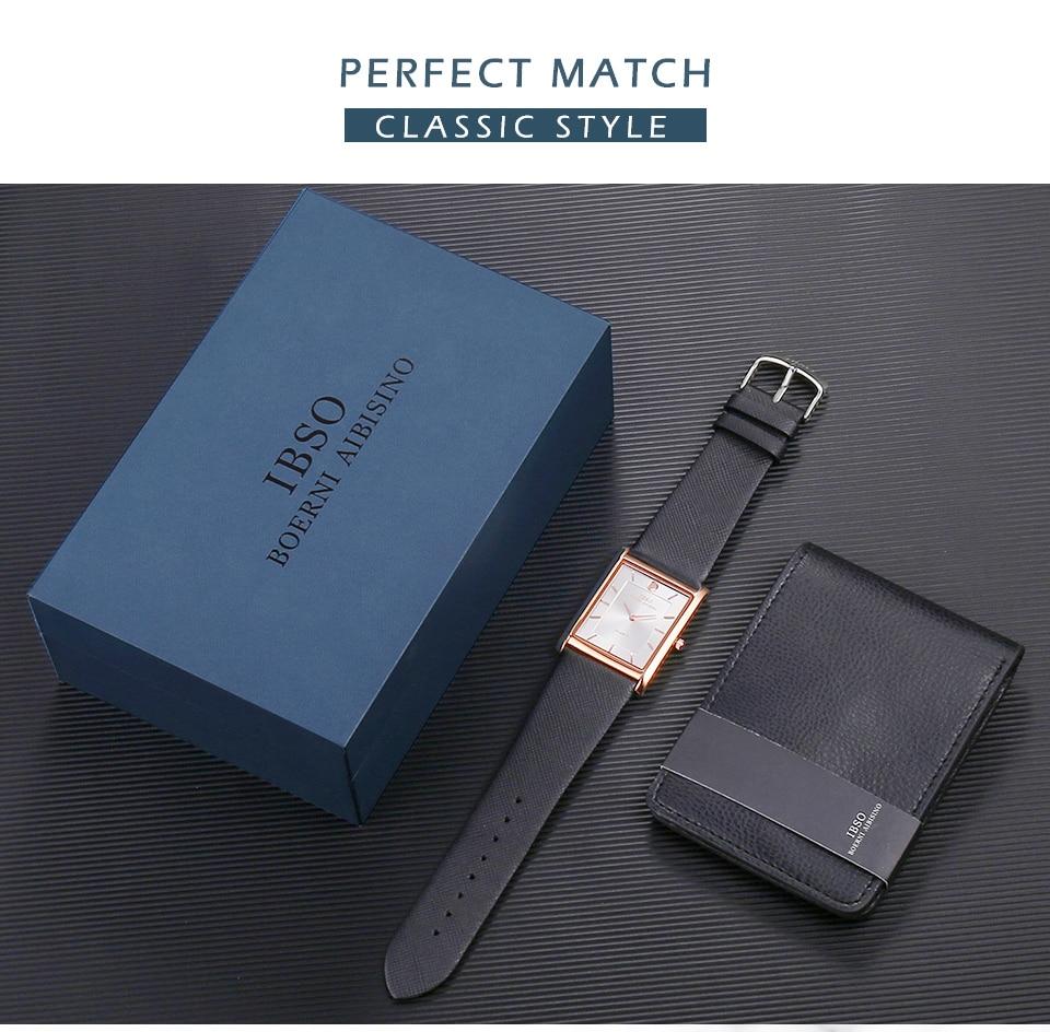 Montre et portefeuille avec boîte