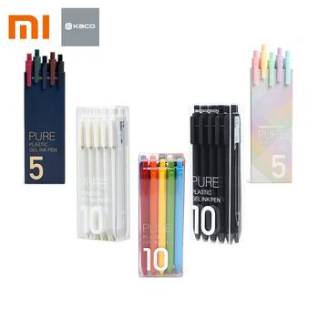 10 sztuk zestaw oryginalny Xiaomi Mijia Kaco Pen 0 5mm długopis żelowy pióro do podpisywania KACO Core trwałe pióro do podpisywania wkład do pióra czarny atrament + wkłady Kaco tanie i dobre opinie XM0061 Z tworzywa sztucznego Biuro i szkoła pen