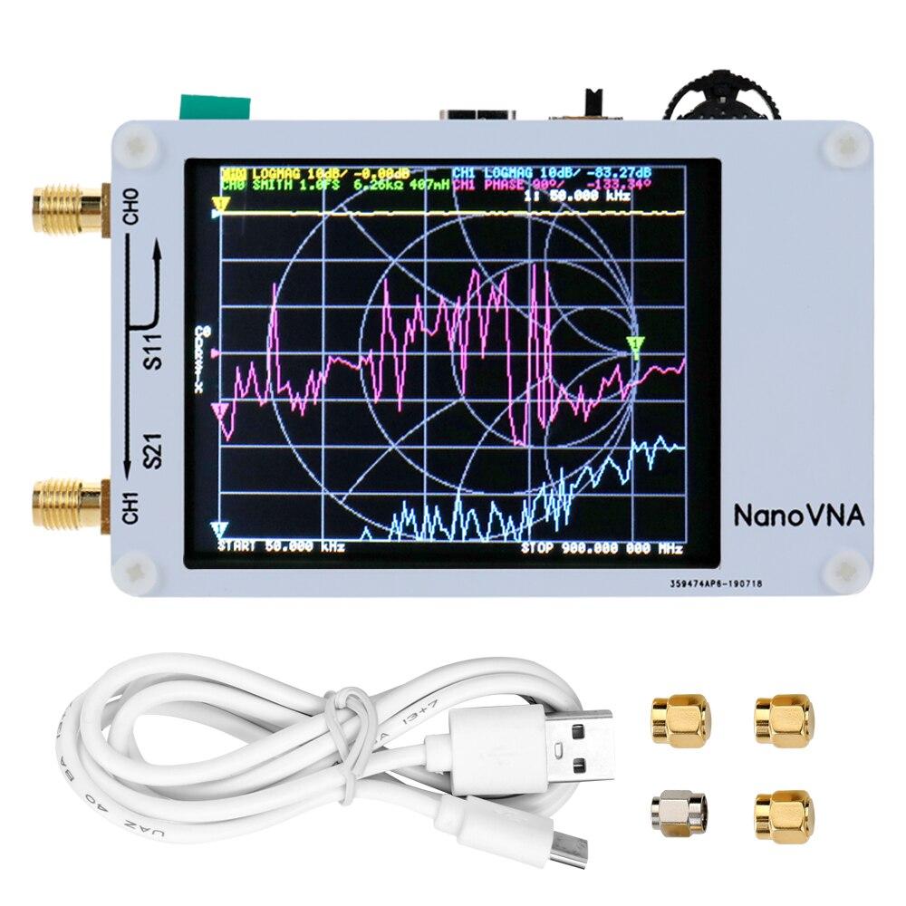 Vector Network Analyzer 50KHz-900MHz Digital Display Touching Screen Shortwave MF HF VHF UHF Antenna Analyzer Standing Wave