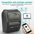 Портативный мини Bluetooth принтер Термальный чековый принтер Карманный билет машина для мобильного телефона Android iOS PC 58 мм