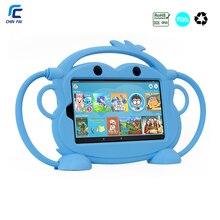 Чехол-переноска CHINFAI для Kindle Fire 7 '' детский Силиконовый противоударный моющийся чехол для Kindle Fire 7 с автомобильным ремешком