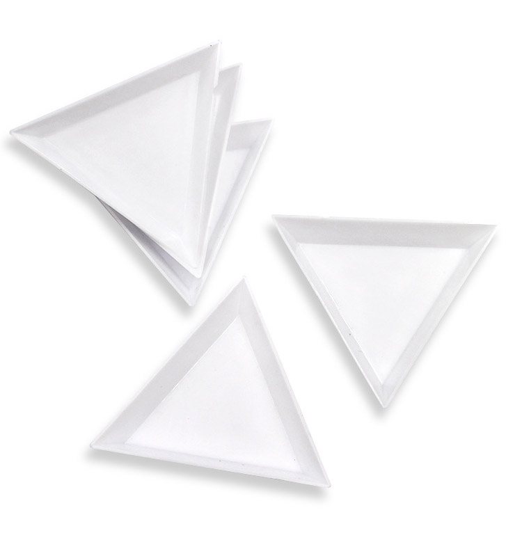 Контейнер для RhinestonNail Арт Декор для хранения драгоценных камней Блеск пустой Треугольники Стразы для бусин кусочков отделения пластина