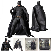 2 Types DC Justice League Super HeroTactical Suit Mafex 056  Batman MAFEX 064  Action Figure Toy Doll Gift