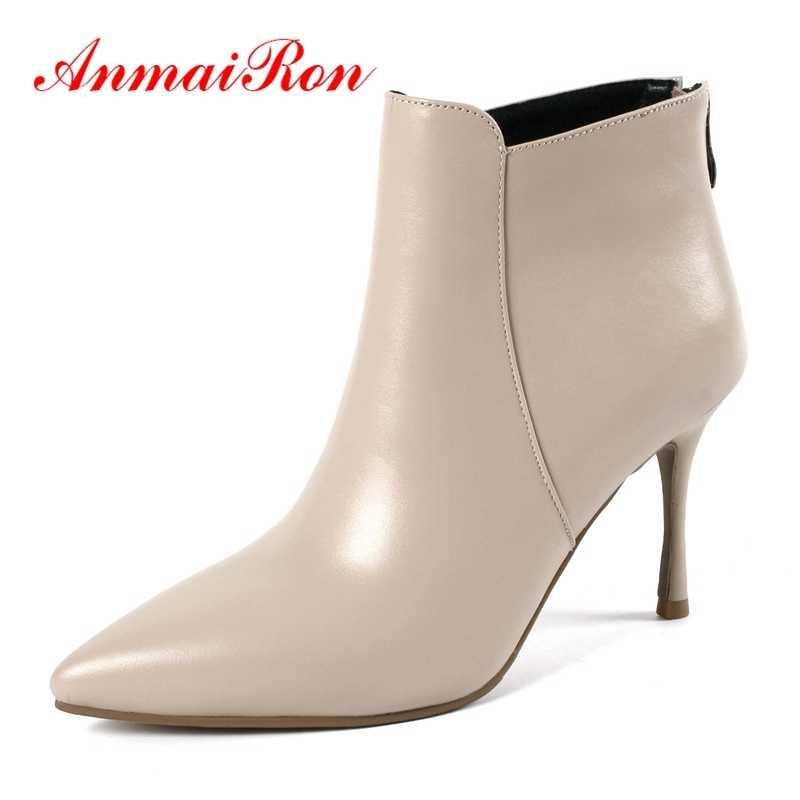 AnmaiRon Booties 2018 Frau zapatos de mujer damen stiefel bella hadid spitz stiefeletten 34-43 ZYL1352