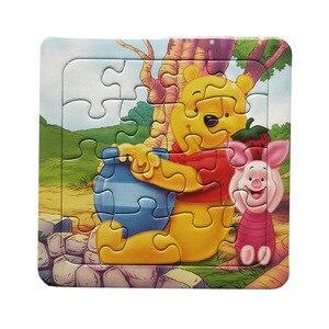 Image 2 - Puzzle di Carta Digitale Famoso Cartone Animato Winnie Giocattolo Educativo per I Bambini 9/12/16PCS Puzzle Game Spedizione Gratuita giocattoli del capretto