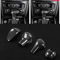 High quality Real Carbon Fiber For AUDI A3 A4 A6 A5 A7 S3 S6 S7 Q5 Q7 AT Car Styling Gear Shift Knob Head Cover Trim Accessories