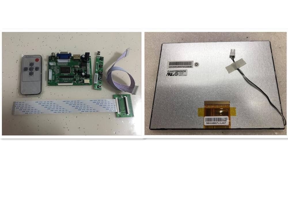 HDMI VGA 2AV Remote LCD Controller Board 7 Inch 800x600 CLAA070MA0ACW LCD Driver Board