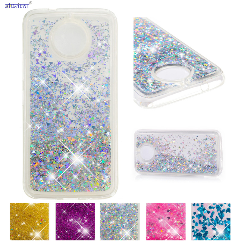 Glitter Liquid Case for Motorola Moto E5 Play <font><b>XT1944</b></font>-6/-5/-<font><b>4</b></font> Soft TPU Cover for Moto E Play Gen 5 XT1921-1 Quicksand Case Funda image