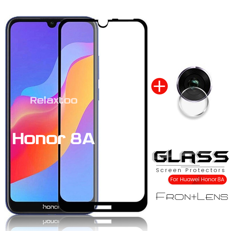 2-in-1 glass on honor 8a protective glass honor 8a pro camera protector for huawei honor 8a prime honor8a film honer 8 a 6.09'' 1
