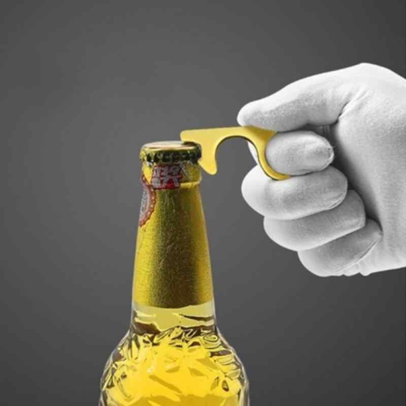 Nowy wielofunkcyjny otwieracz do piwa butelka przycisk windy ekran telefonu dotykowy bez kontaktu higiena materiał stopu narzędzia gospodarstwa domowego