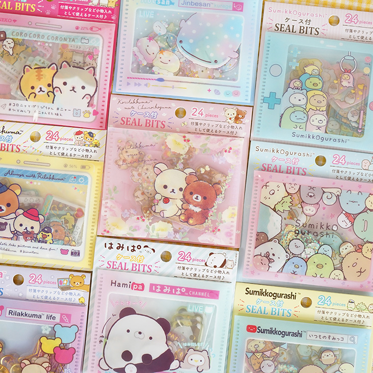 24pcs/pack Cute Cat PVC Sticker Cartoon Sumikko Gurashi Decoration DIY Ablum Diary Scrapbooking Label Sticker Stationery