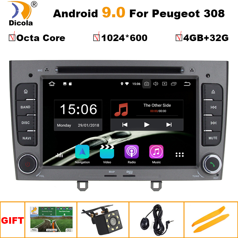 4+32G PX5 IPS Android 9 Octa Core Car DVD Player GPS Navi for <font><b>Peugeot</b></font> 408 for <font><b>Peugeot</b></font> 308 <font><b>308SW</b></font> Audio <font><b>Radio</b></font> Stereo Head Unit image