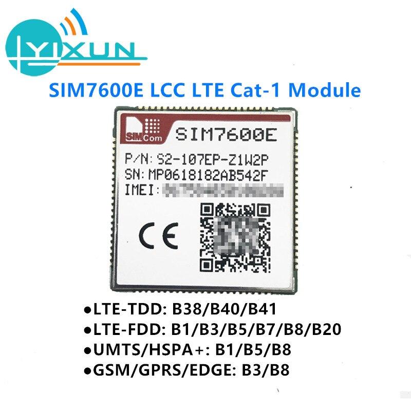 SIMCOM SIM7600E LCC B38/B40/B41/B1/B3/B5/B7/B8/B20 Cat1 LTE-TDD/LTE-FDD/HSPA+ WirelessModule LTE Module