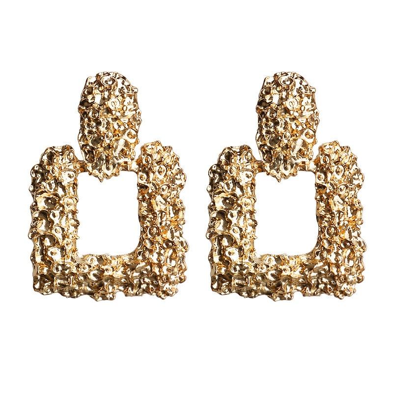 Mostyle 30 стилей модные большие винтажные золотые серебряные розовые золотые геометрические массивные металлические Висячие серьги для женщин - Окраска металла: 62954
