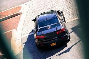 Image 3 - For Mitsubishi Lancer EVO 10th Carbon Fiber Roof Spoiler Shark Fin Wing Lip 2008 2014