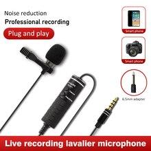 Lapel Mic Microphone Collar Audio Dslr-Cameras Canon Recording Condenser Clip-On-Lavalier