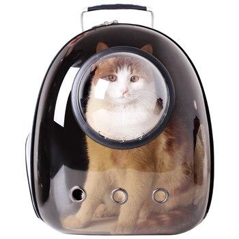 Large Window Cat Backpack Space Capsule Black Portable Shoulder Backpack Breathable Bag Pet Bolso Mascotas Pet Fashion KK60MX