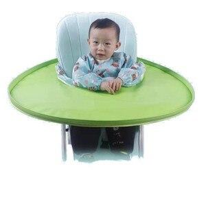 Складной детский обеденный стул, коврик для еды, нагрудники из пищевого ТПУ материала, двухсторонний Водонепроницаемый герметичный рисовы...