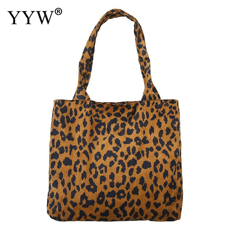 Female Bag Handbag-Bag Leopard-Print Tassel Large-Capacity American Corduroy One-Shoulder