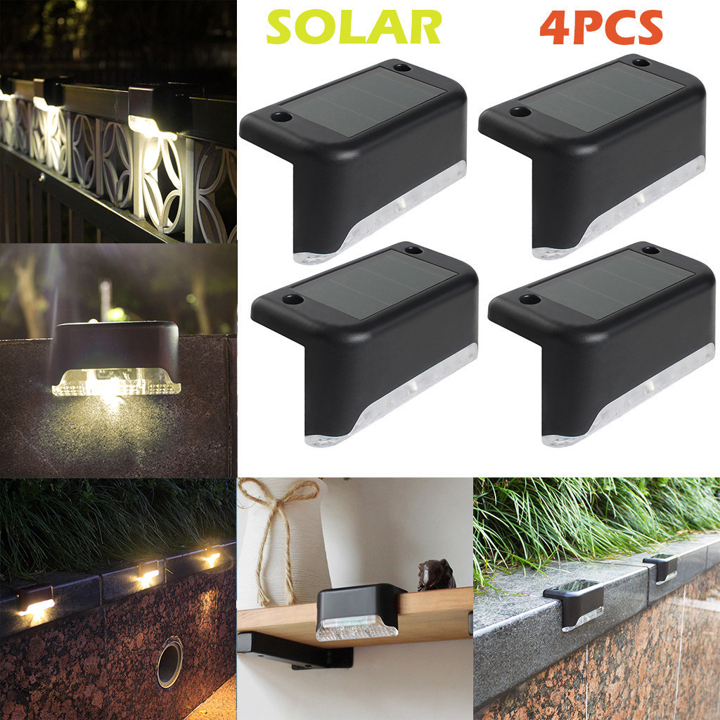 38 4pcs Led Solar Path Stair Lights Outdoor Garden Yard Fence Wall Landscape Lamp Solar Night Light Rechargeable Ni Mh Battery Led Indoor Wall Lamps Aliexpress