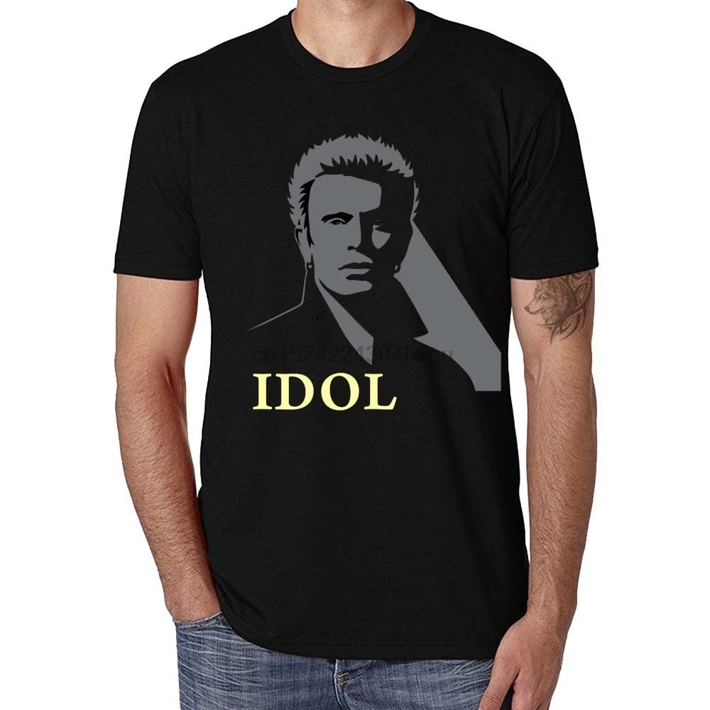 100% Cotton Casual Fashion Billy Idol Cool Graphic Mens T-Shirt women tshirt