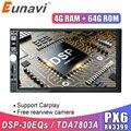 Eunavi 2 Din 7 ''Android 9 Автомобильный мультимедийный плеер 4G 64GB универсальное Авто Радио Стерео GPS навигация 1024*600 IPS DSP WIFI без DVD