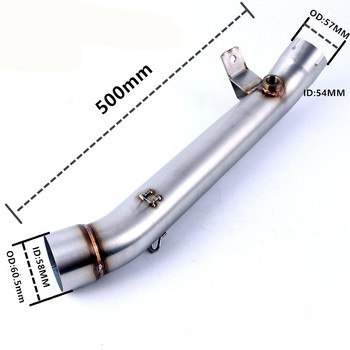 Free Shipping ZX-10R ZX10R Motorcycle exhaust  er Link middle pipe slip-on for kawasaki zx-10r 2011-2017 ZX 10R