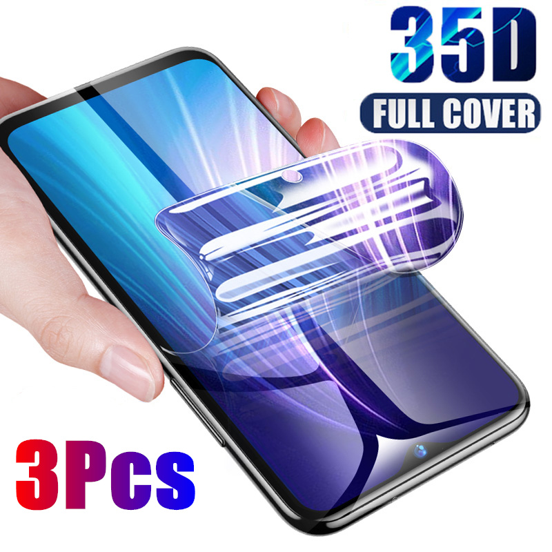3Pcs Full Cover Hydrogel Protective Film For Xiaomi Redmi Note 5 6 7 8 Pro 8T Screen Protector For Redmi 8A 7A 6A Soft Film