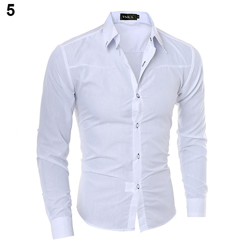 New Argyle luxury men's top Formal Social Business Style Slim Soft Comfort Long Sleeve Casual Dress Tops Gift For Men Clothing 6