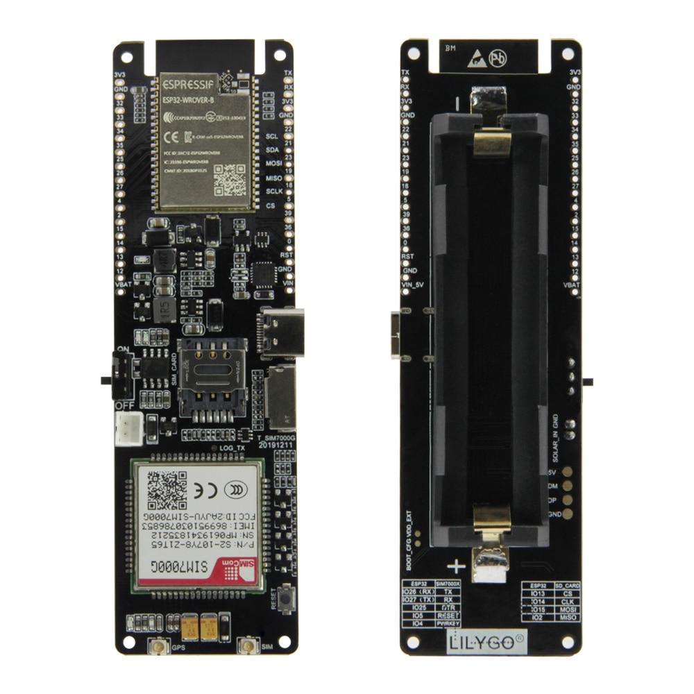 LILYGO® TTGO T SIM7000G Module ESP32 WROVER B Chip WiFi Bluetooth 18560 Battery Holder Solar Charge Development Board|Circuits| |  - title=