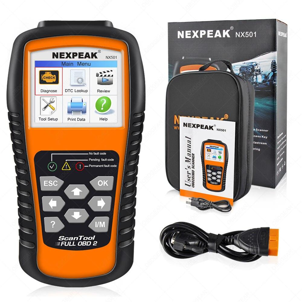 2019 New OBD2 Car Scanner Full ODB 2 Auto Diagnostic Scanner Nexpeak NX501 Auto Diagnostic Tool ODB2 Better Than  Launch CR5001