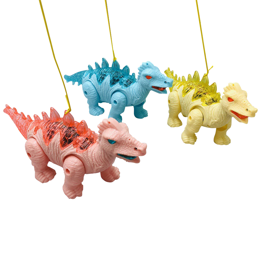 2019 Dinosaur Model Plastic Simulation Electric Walking Sound Light Rc Colorful Toy Funny Animal Game  Kids Christmas Gift Sozzy
