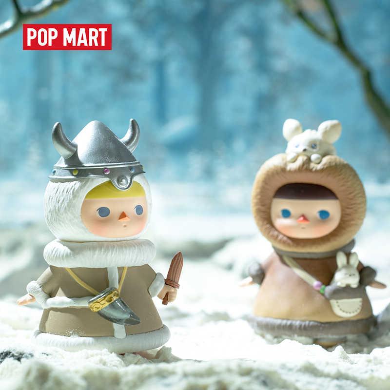 POPMART 1pc Pucky zima dzieci pudełko z niespodzianką lalka binarny figurka prezent urodzinowy zabawka dla dzieci figurka prezent urodzinowy zabawka dla dzieci